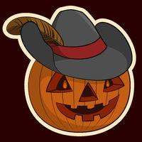 Halloween Pumpkin in the Hat