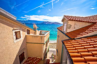 Town of Baska colorful waterfront architecture view
