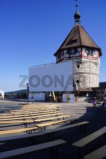 Open Air Kino auf dem Munot,Schaffhausen,Schweiz