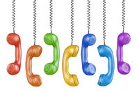 handsets of different colors