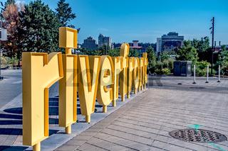 Riverfront Park on the sunny day,Spokane,Washington,usa.