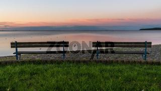 Evening in Wieck, Mecklenburg-Western Pomerania, Germany