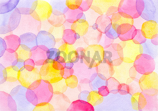 Watercolor Background Made Of Polka Dots