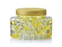 Jar of scented air freshener gel beads