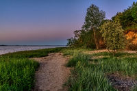 Evening at the Baltic Sea Coast near Wismar, Mecklenburg-Western Pomerania, Germany