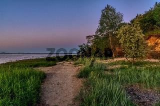 Evening at the Baltic Sea Coast near Wismar, Mecklenburg-Western Pomerania, Germany