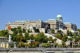 Der Burgpalast in Budapest, Ungarn, Europa