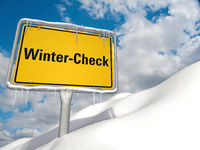 Symbolic image on the topic of winter check.