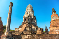 Buddhist temple Wat Ratchaburana and its prang in Ayutthaya