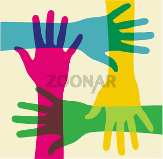 multicolored teamwork