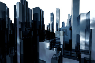 abstract skyscrapers 3d