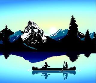 Kanu in der Natur.eps