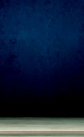 Large table top made of solid light wood, dark blue background - Vector