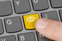 Computer keyboard with Eye key