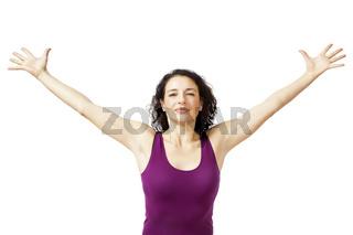 women arms open