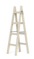 Double sided wooden ladder