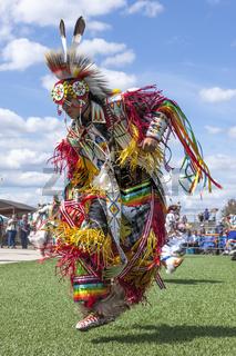High stepping at the Julyamsh powwow.