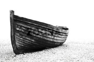 Old fisherman boat on Brighton beach