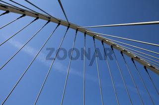 suspension bridge, Gare de Liège-Guillemins, Belgium
