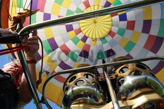 Gasbrenner im Heißluftballon
