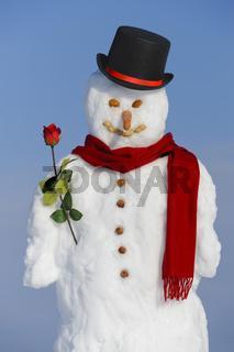 Schneemann als Liebhaber