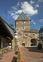 Schelmenturm, Monheim am Rhein, Bergisches Land, North Rhine-Westphalia, Germany, Europe