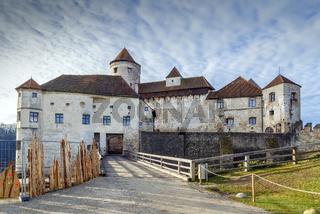 Main castle in Burghausen Castle, Germany
