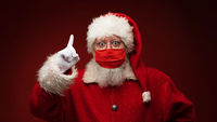 Santa Claus in medical mask