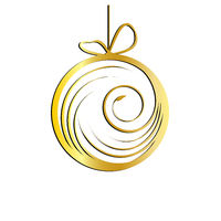 Golden Christmas bauble with ornaments