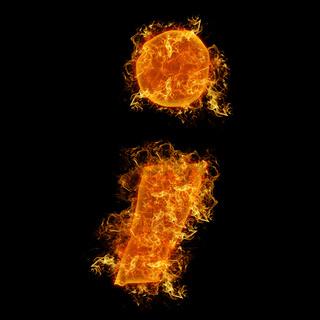 Fire semicolumn letter
