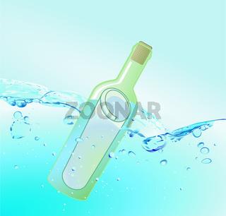 Flaschenpost Wasser.eps