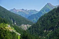 Blick zu den Lechtaler Alpen, Österreich, Tirol