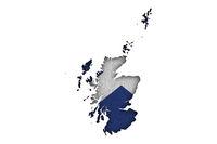 Karte und Fahne von Schottland auf Filz - Map and flag of Scotland on felt