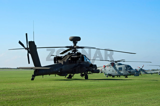 AH-64d and Westland Lynx helicopters
