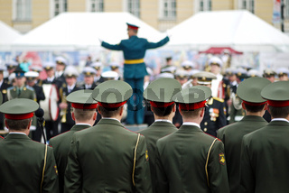 Militärparade in St. Petersburg