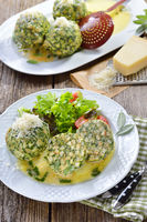 South Tyrolean spinach bread dumplings