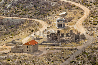 Stone church of st. Franjo on Velebit mountain