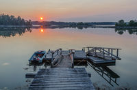 Jetty in sunset, Orr's Island, Maine, New England, United States of America