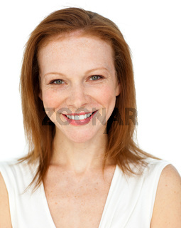 Smiling assertive businesswoman
