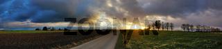 Panorama - Wetterstimmung in der Abendsonne