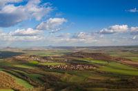 View from the top of Oblik hill.Czech Republic