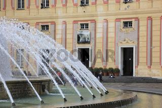 Springbrunnen an der Piazza de Ferrari, Genua