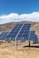 solar power plant on plateau