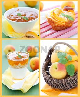 Aprikosen Collage