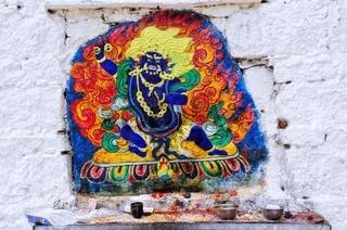 Buddha Heiliger an der Potala Mauer Lhasa Tibet