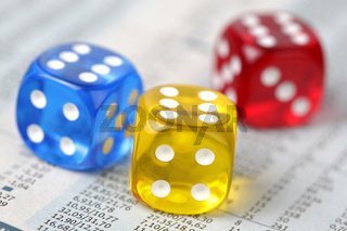 Dice on financial report