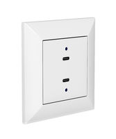 Wall socket with USB-C charging ports