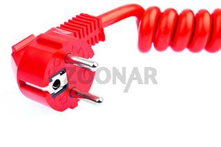 Rotes Strom Kabel