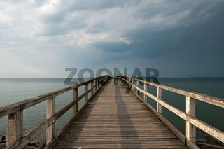 Seebrücke von Sassnitz, Rügen, Deutschland