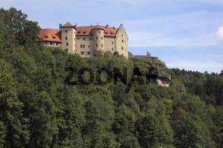 Burg Rabenstein bei Ahorntal in der Fränkischen Schweiz, Landkreis Bayreuth, Oberfranken, Deutschland